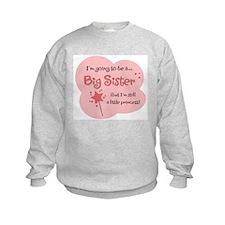 Big Sister Little Princess On Sweatshirt