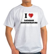 I love Database Administrators (Heart made T-Shirt