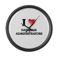 I love Database Administrators (H Large Wall Clock