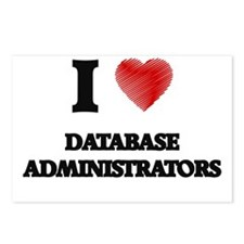 I love Database Administr Postcards (Package of 8)