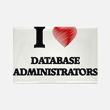 I love Database Administrators (Heart made Magnets