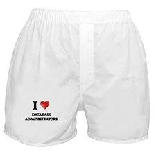I love Database Administrators (Heart Boxer Shorts