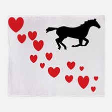 Unique I love horses paint horses Throw Blanket