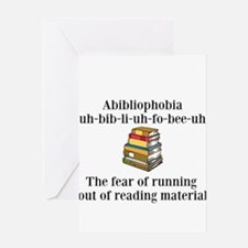 Abibliophobia Greeting Cards
