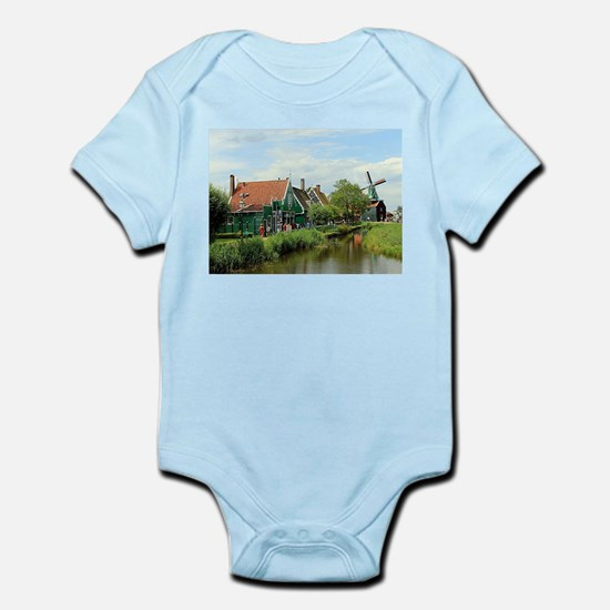 Dutch windmill village, Holland Body Suit
