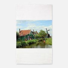 Dutch windmill village, Holland Area Rug