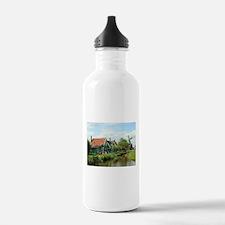 Dutch windmill village Water Bottle
