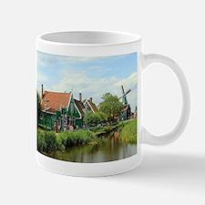 Dutch windmill village, Holland Mugs