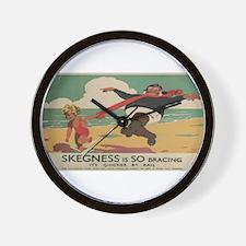 Vintage poster - Skegness Wall Clock