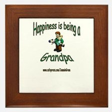 HAPPY GRANDPA Framed Tile