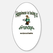 HAPPY GRANDPA Oval Decal