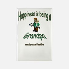 HAPPY GRANDPA Rectangle Magnet