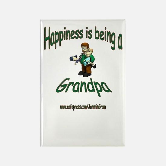 HAPPY GRANDPA Rectangle Magnet