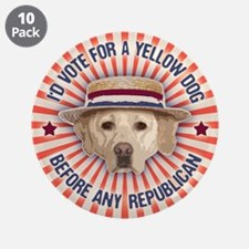 """Yellow Dog II 3.5"""" Button (10 pack)"""