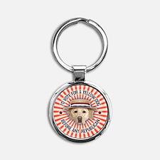 Yellow Dog II Round Keychain
