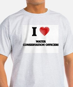 I love Water Conservation Officers (Heart T-Shirt
