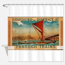 Vintage poster - Southend Shower Curtain