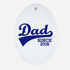 Dad 2016 Oval Ornament