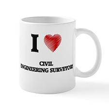I love Civil Engineering Surveyors (Heart mad Mugs