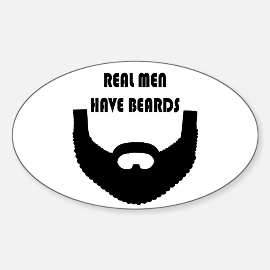 Real Men Have Beards Decal