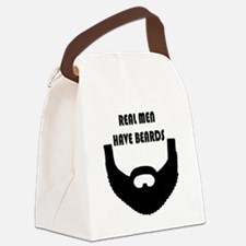Real Men Have Beards Canvas Lunch Bag
