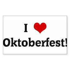 I Love Oktoberfest! Rectangle Decal