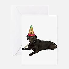 Chocolate Lab Birthday Greeting Cards