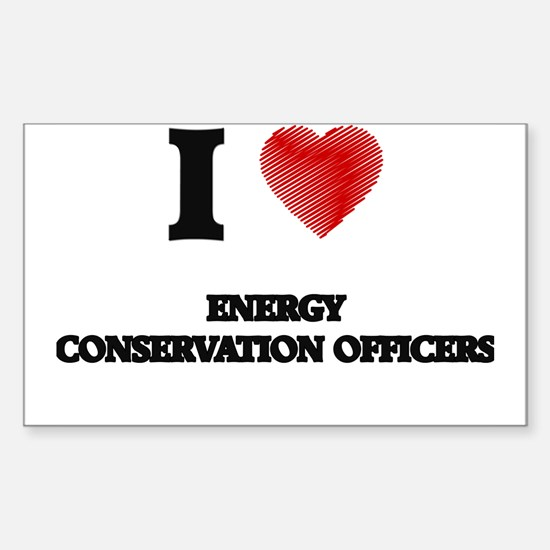 I love Energy Conservation Officers (Heart Decal