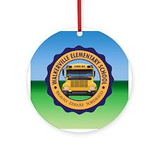 Walkerville Elementary School Round Ornament