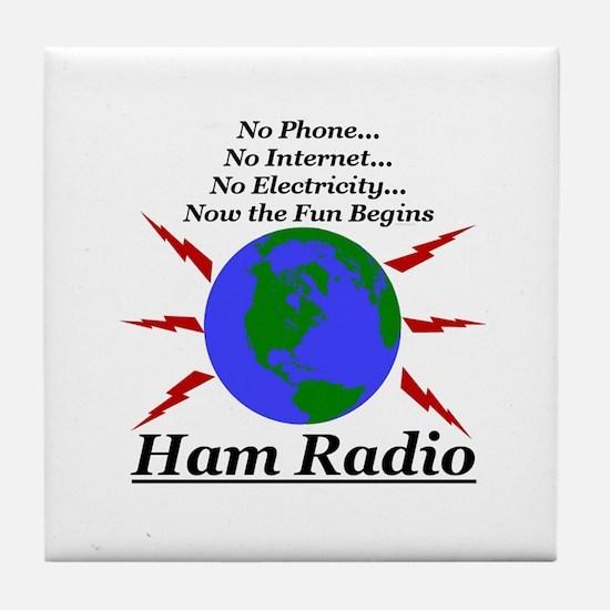 hamfun.jpg Tile Coaster