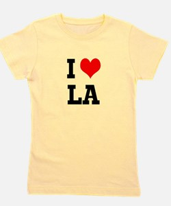 Cute I heart la Girl's Tee