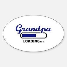 Grandpa loading Sticker (Oval)