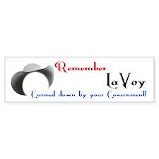 Remember LaVoy Bumper Bumper Sticker