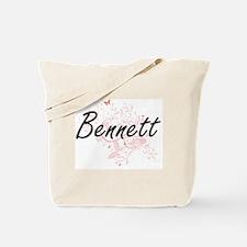 Bennett surname artistic design with Butt Tote Bag