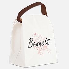 Bennett surname artistic design w Canvas Lunch Bag