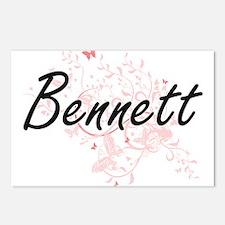 Bennett surname artistic Postcards (Package of 8)