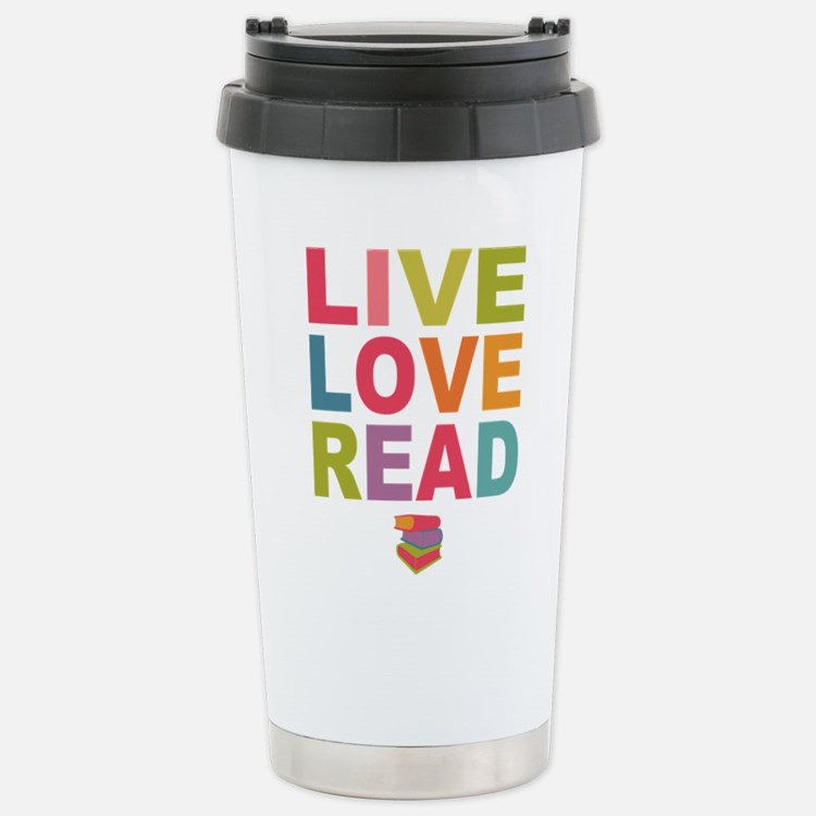 Live Love Read Travel Mug
