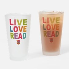 Live Love Read Drinking Glass