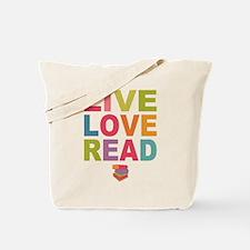 Live Love Read Tote Bag
