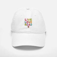 Live Love Read Baseball Baseball Cap