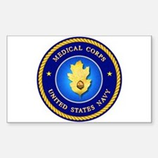 Navy Medical Corps Rectangle Stickers