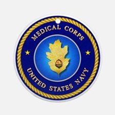 Navy Medical Corps Ornament (Round)