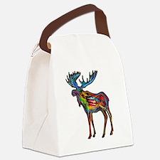 Cute Alaska moose Canvas Lunch Bag