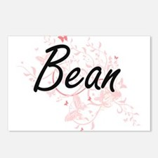 Bean surname artistic des Postcards (Package of 8)