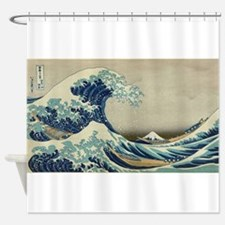 Vintage poster - The Great Wave Off Shower Curtain