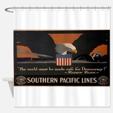 Vintage poster - Southern Pacific Shower Curtain