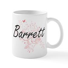 Barrett surname artistic design with Butterfl Mugs