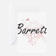 Barrett surname artistic design wit Greeting Cards