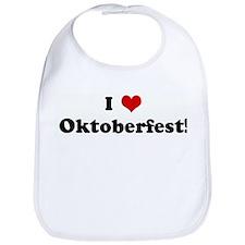 I Love Oktoberfest! Bib