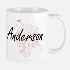 Anderson surname artistic design with Butterf Mugs